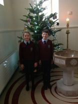 Our Head Boy and Head Girl Decorate The Jesse Tree